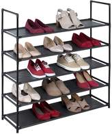 Richards Black 5-Shelf Fabric Shoe Rack