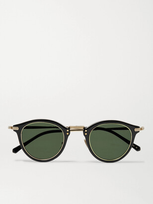Mr. Leight Stanley S Round-Frame Acetate And Gold-Tone Titanium Sunglasses