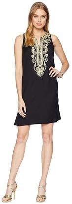 Lilly Pulitzer Carlotta Stretch Shift (Onyx) Women's Dress