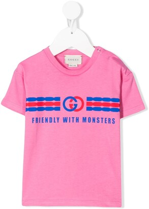 Gucci Kids interlocking G print T-shirt