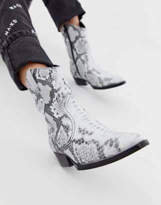 Bronx Jacky-Jo snake print leather western boots