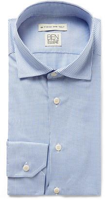Etro Light-Blue Slim-Fit Puppytooth Woven Shirt