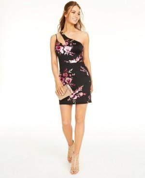 B. Darlin Juniors' One-Shoulder Dress