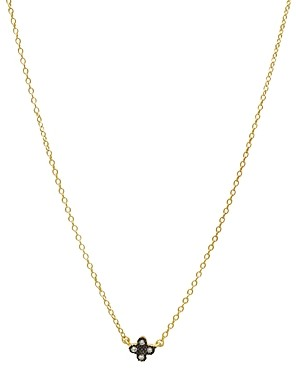Freida Rothman Mini Clover Pendant Necklace in 14K Gold-Plated, Platinum-Plated & Rhodium-Plated Sterling Silver, 16