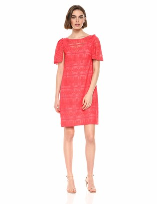 Trina Turk Trina Women's Ellington Boatneck Pleated Sleeve Dress