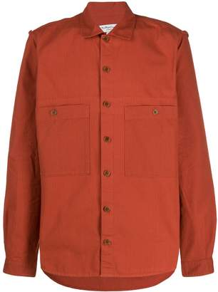 YMC textured double pocket shirt