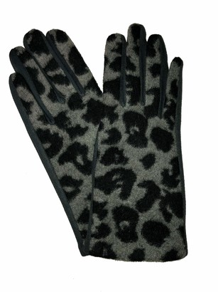 Pamper Yourself Now G1921 Leopard print super soft ladies gloves (grey)