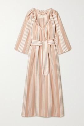Mara Hoffman + Net Sustain Luz Striped Tencel Lyocell And Organic Cotton-blend Midi Dress - Sand