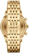 Emporio Armani Goldtone Stainless Steel Chronograph Link Bracelet Watch