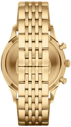 Emporio Armani Goldtone Stainless Steel Chronograph Link Bracelet Watch