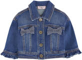 MonnaLisa Jean jacket with rhinestones