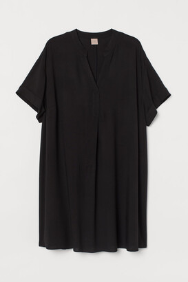 H&M H&M+ V-neck Dress - Black
