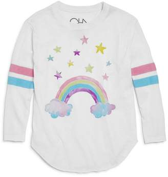 Chaser Girls' Watercolor Rainbow Top - Little Kid