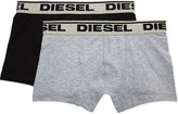 Diesel Logo waistband cotton boxer trunks pack of two 6-16 years