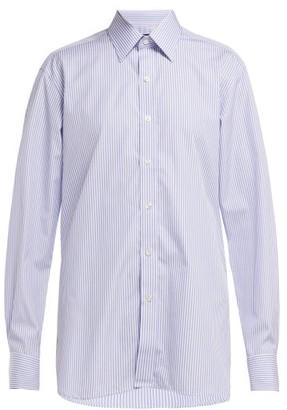 Emma Willis Bengal Striped Cotton Shirt - Womens - Blue White