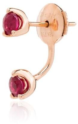Anita Ko Orbit 18kt rose gold ruby earring