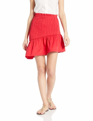 The Fifth Label Women's Upland Smocked Ruffle Short Mini Skirt
