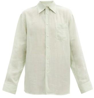 Marni Oversized Ramie-voile Shirt - Light Green