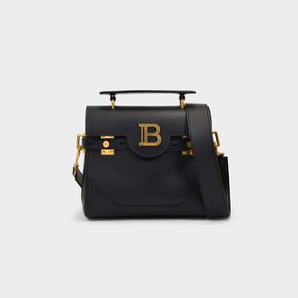 Balmain B-Buzz 23 Bag In Black Leather