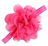 Yoyorule Lovely Baby Girls Infant Hair Band for Photograph (Hot Pink)