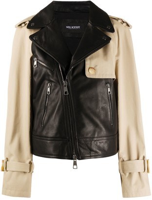 Neil Barrett Layered-Effect Leather Jacket