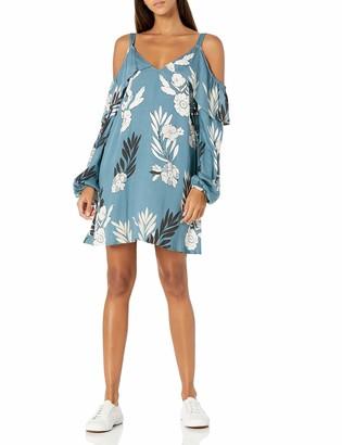 Somedays Lovin Women's After The Storm Floral Print Cold Shoulder Dress