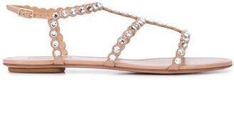 Aquazzura Tequila crystal-embellished sandals