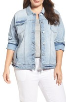 Plus Size Women's Caslon Denim Trucker Jacket