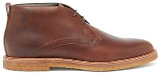 Tod's Polacco Leather Desert Boots - Mens - Brown