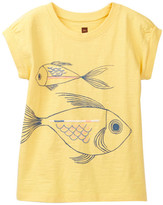 Tea Collection Fish Faces Graphic Tee (Toddler, Little Girls, & Big Girls)