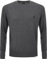 Pretty Green Hinchcliffe Crew Neck Jumper Grey