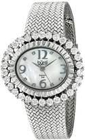 Burgi Women's BUR075SS Mother-Of-Pearl Diamond Mesh Bracelet Watch