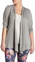Electric Yoga Shawl Long Sleeve Cardigan (Plus Size)