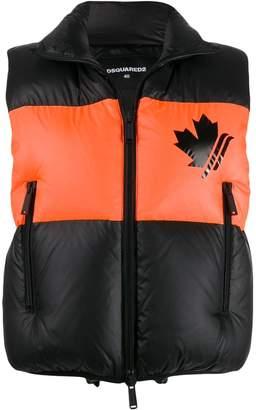 DSQUARED2 padded gilet jacket
