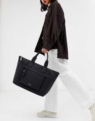 Calvin Klein Charly large tote bag in black