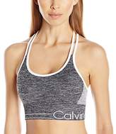 Calvin Klein Women's Long Line Strappy Bra With Ruched Front
