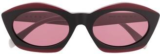 Cat Eye Contrast Sunglasses