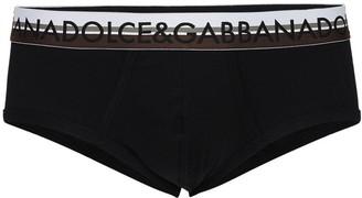 Dolce & Gabbana Logo Stretch Cotton Jersey Briefs