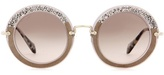 Miu Miu Noir glitter circle sunglasses