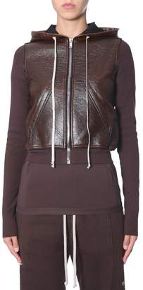 Rick Owens Zip Front Hooded Jacket