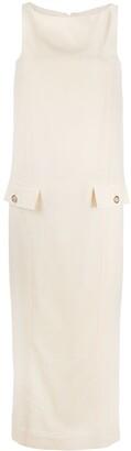 Gianfranco Ferré Pre-Owned 2000s Flap Pockets Long Dress