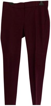 Banana Republic \N Burgundy Trousers for Women