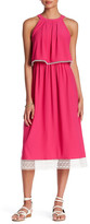 Kensie Sleeveless Popover Midi Dress