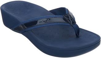 Vionic Platform Leather Sandals - High Tide
