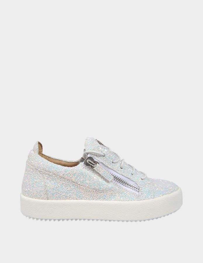 Giuseppe Zanotti Glitter Sneakers in Milk Glitter