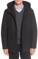 Cole Haan Men's Water Repellent Hooded Wool Jacket