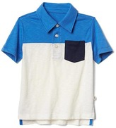 Gap Colorblock short sleeve slub polo