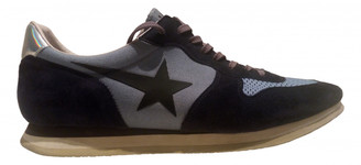 Golden Goose Blue Leather Trainers