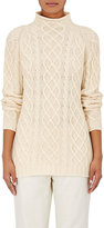 Barneys New York Women's Cashmere Cable-Knit Fisherman Sweater-IVORY