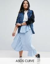 Asos Stripe Deconstructed Midi Skirt